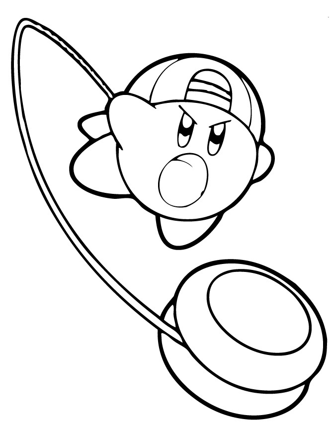 Kirby Printable Coloring Pages
