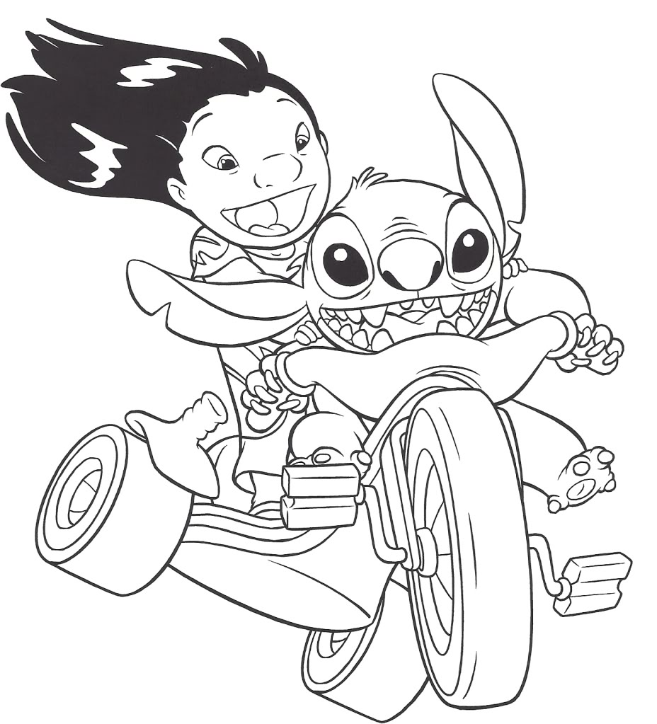 Lilo And Stitch Coloring Page To Print