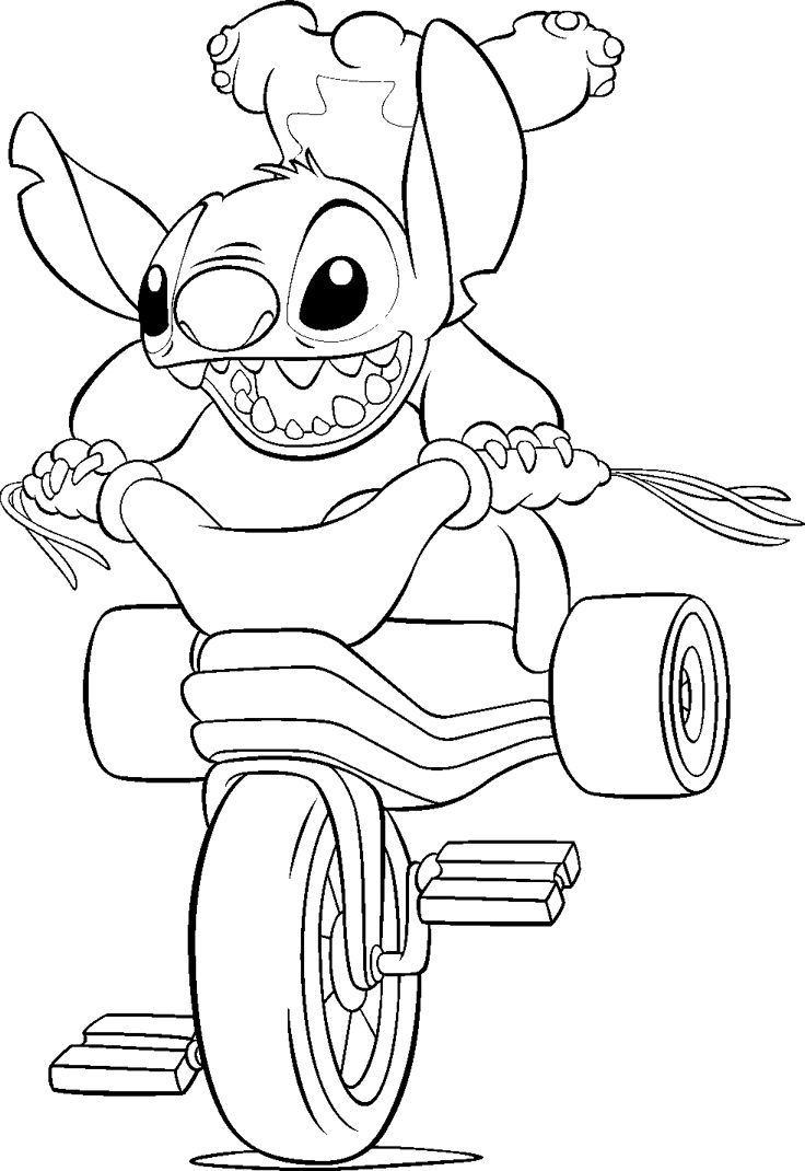 Free printable lilo and stitch coloring pages for kids for Coloring book pages free