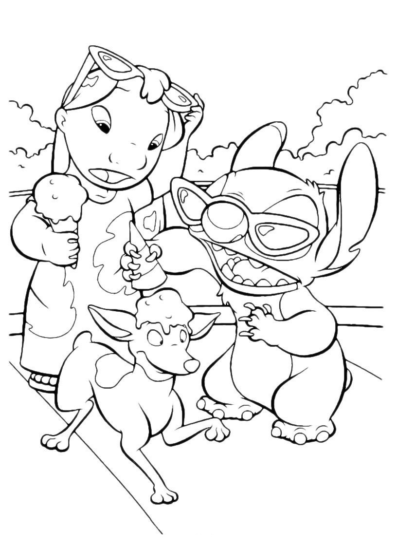 free disney coloring pages to print - free printable lilo and stitch coloring pages for kids
