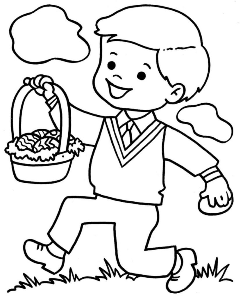 little boy coloring pages - photo#7