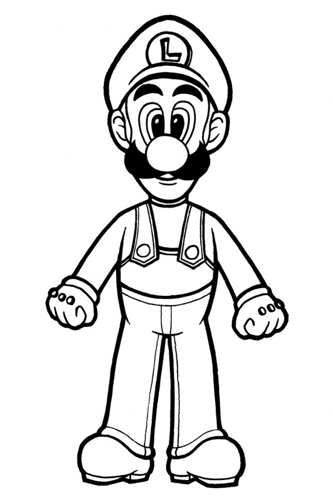 Free Printable Luigi Coloring Pages