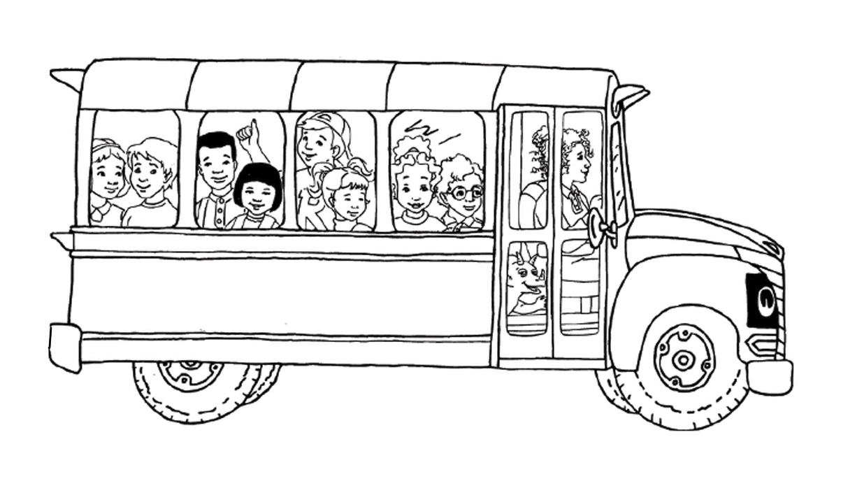 coloring pages bus - photo#34