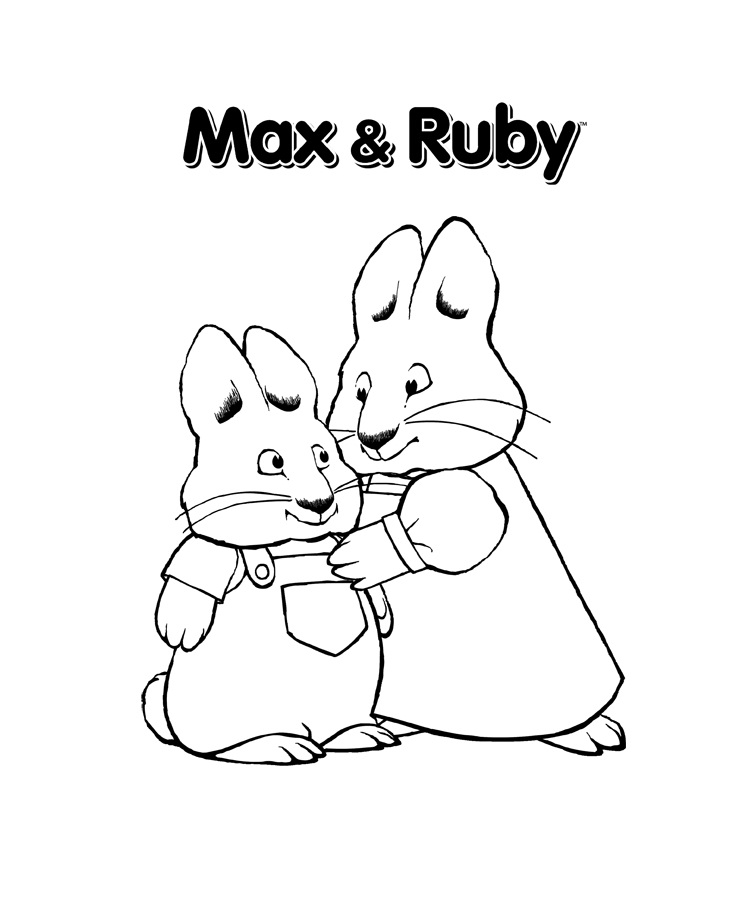Colouring Pages Print : Free printable max and ruby coloring pages for kids