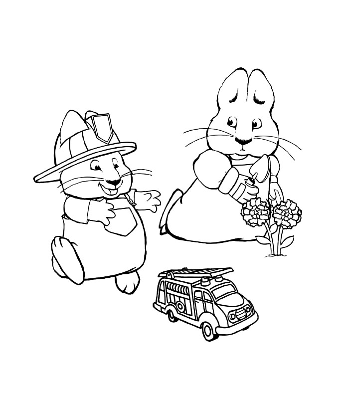 Max and Ruby Coloring Pages Printable