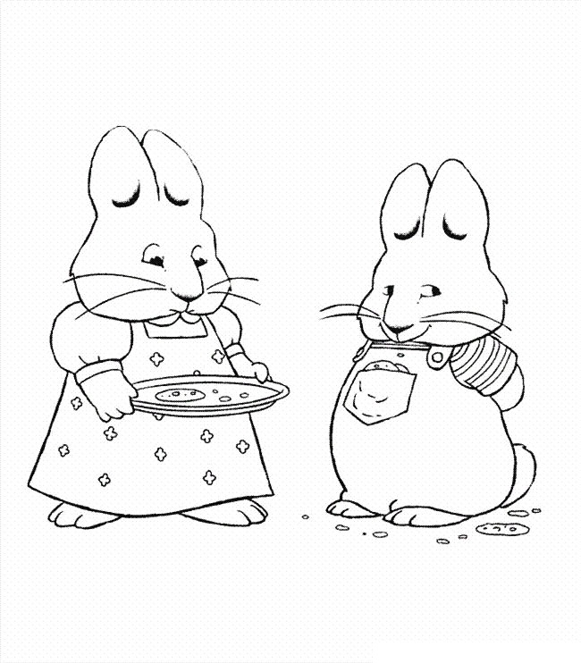 Max and Ruby Coloring Pages for Kids