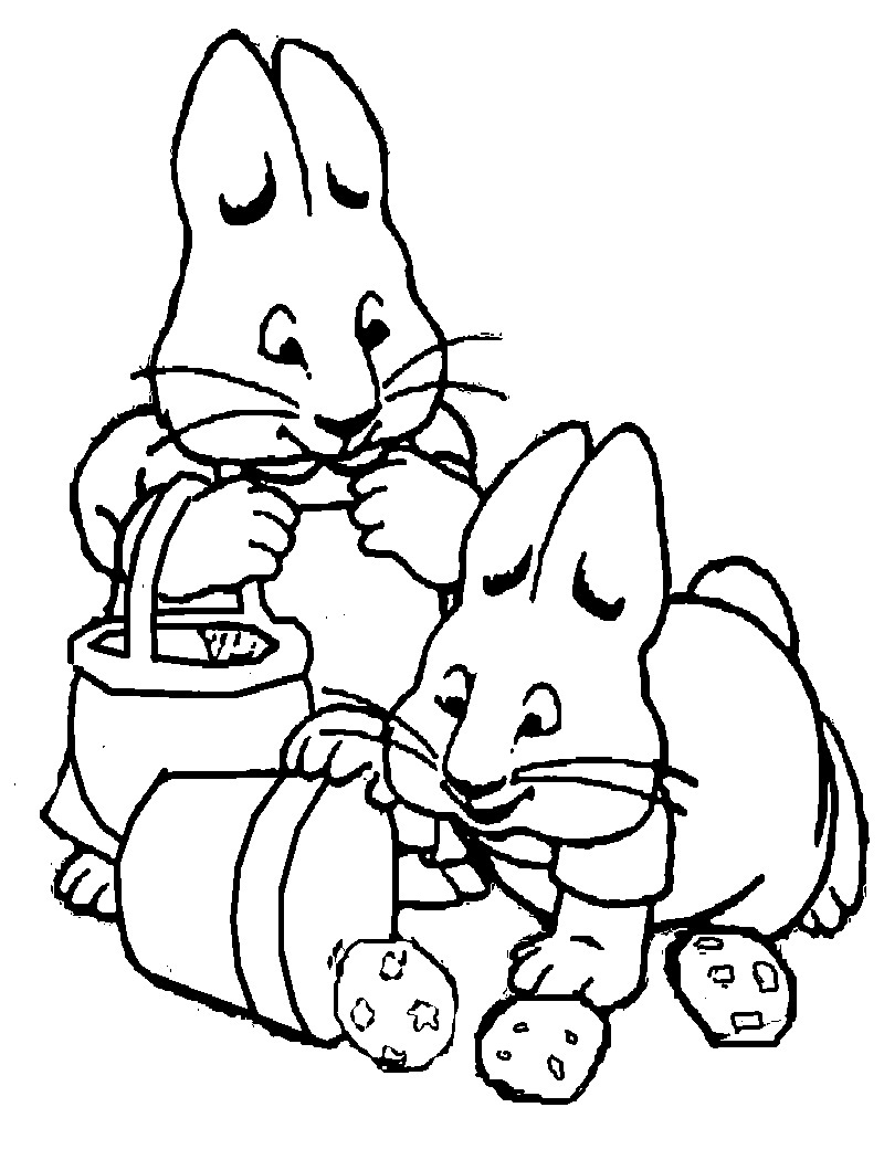 Printable coloring books - Max And Ruby Printable Coloring Pages