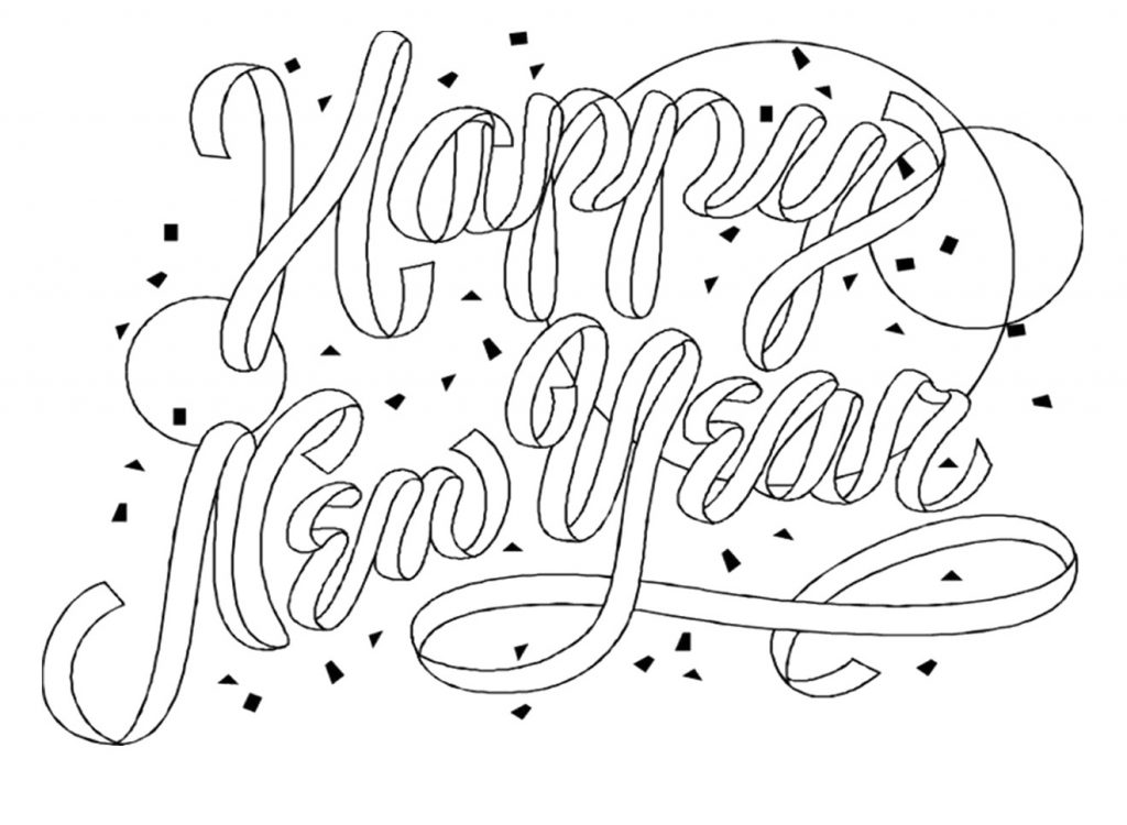 Free Printable New Years Coloring Pages For Kids New Year Colouring Pages