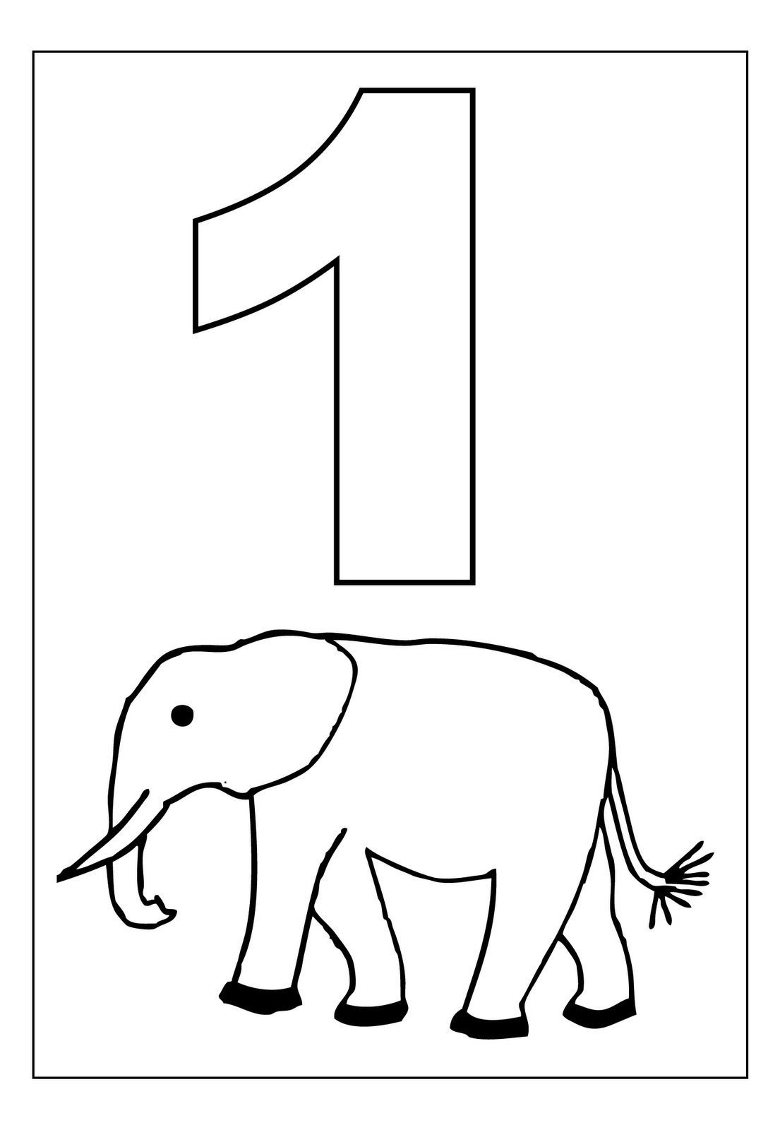 Free printable number coloring pages for kids for Number one coloring page