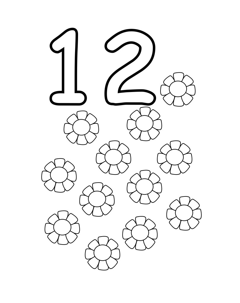 number coloring pages free printable - photo#20