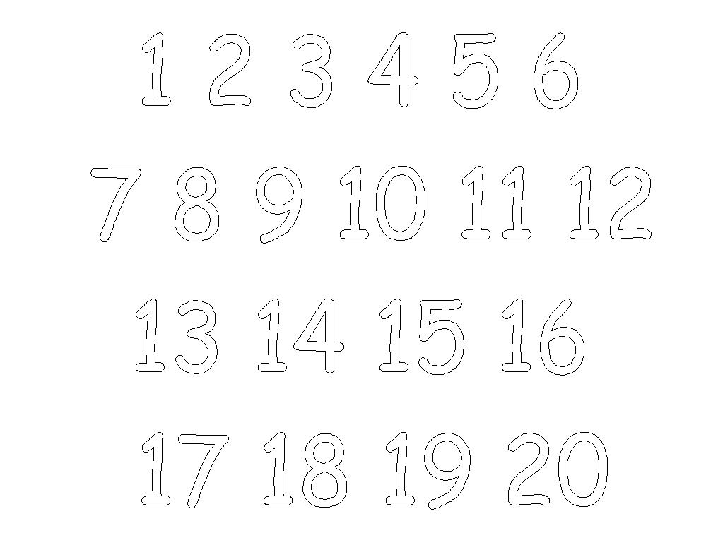 Free Printable Number Coloring