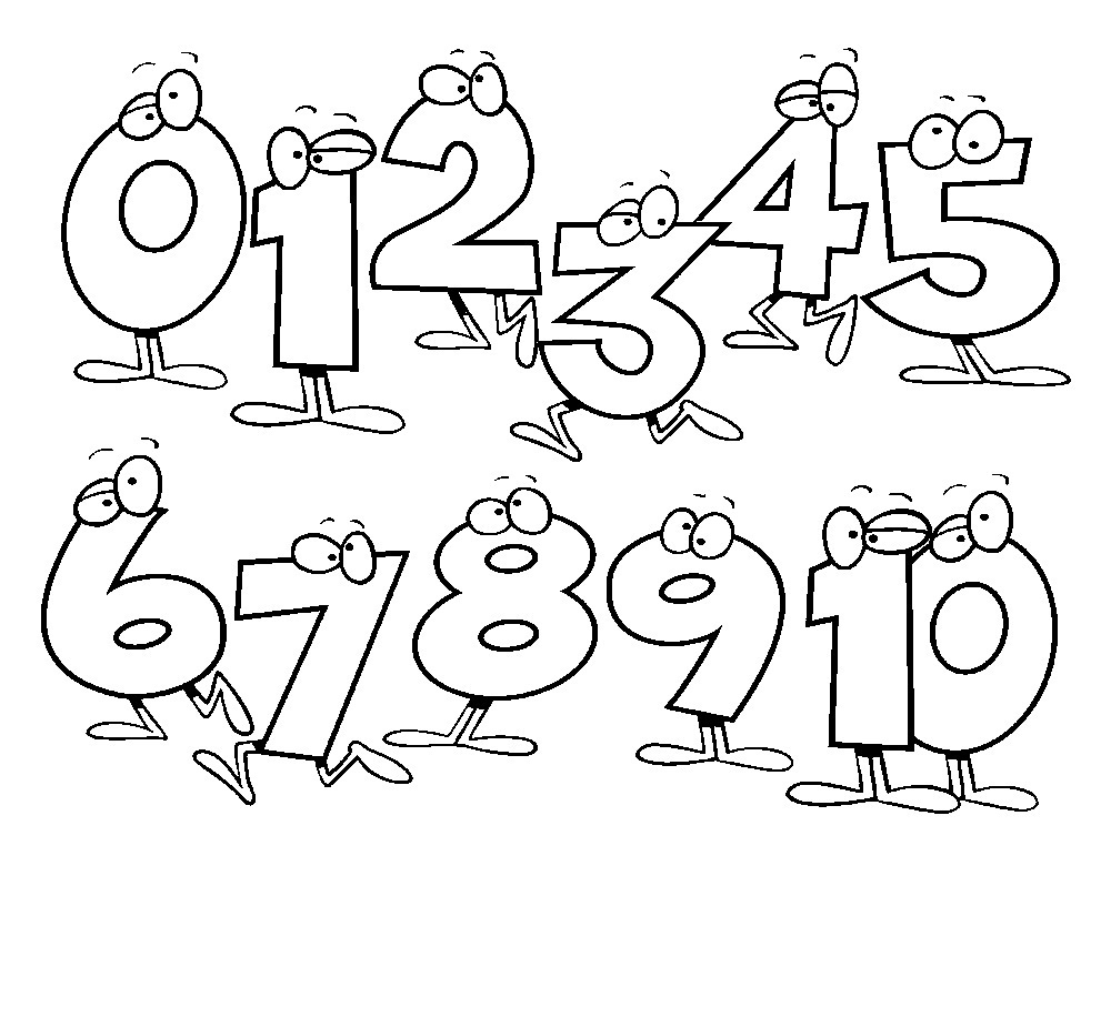 number coloring pages free printable - photo#2
