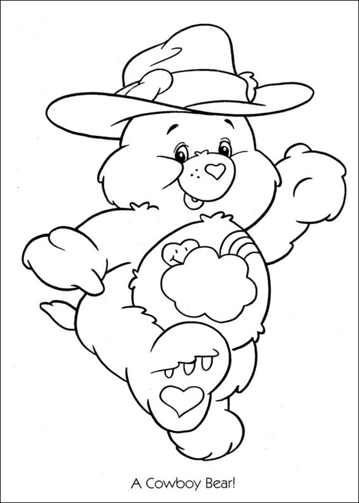 care bear coloring pages kids - photo#15