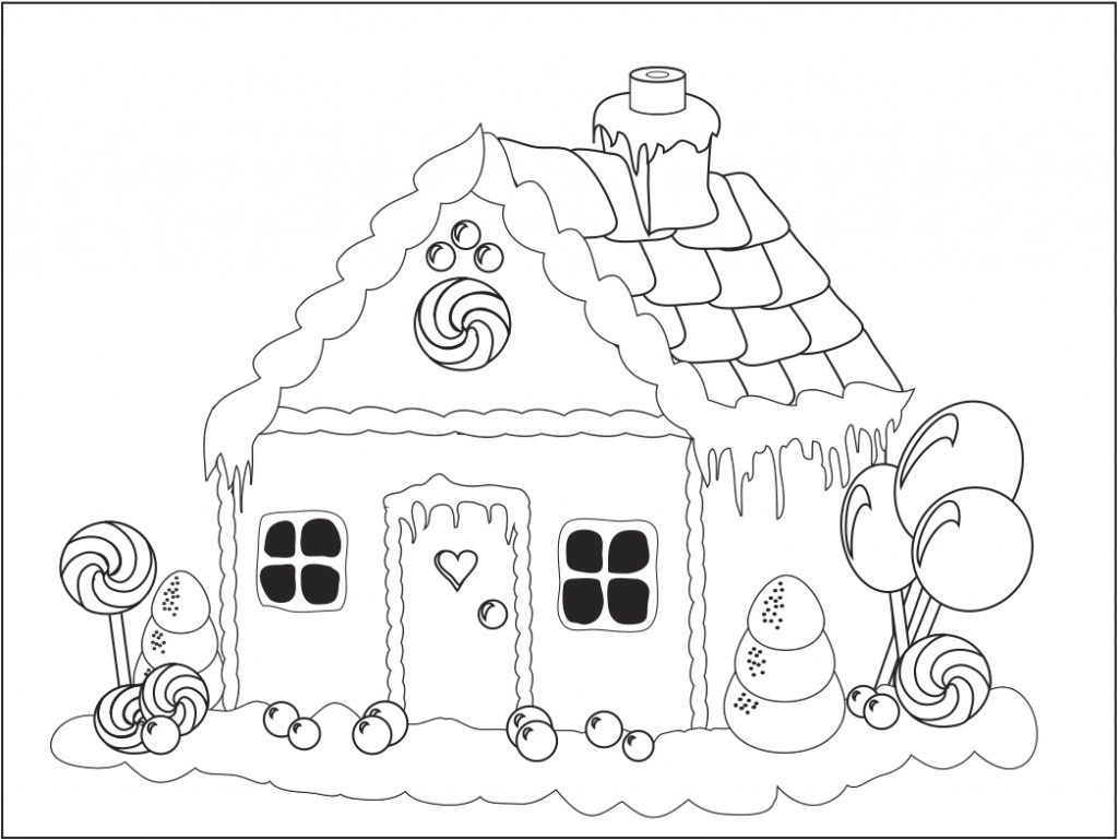 Printable coloring pages gingerbread house - Printable Gingerbread House Coloring Pages