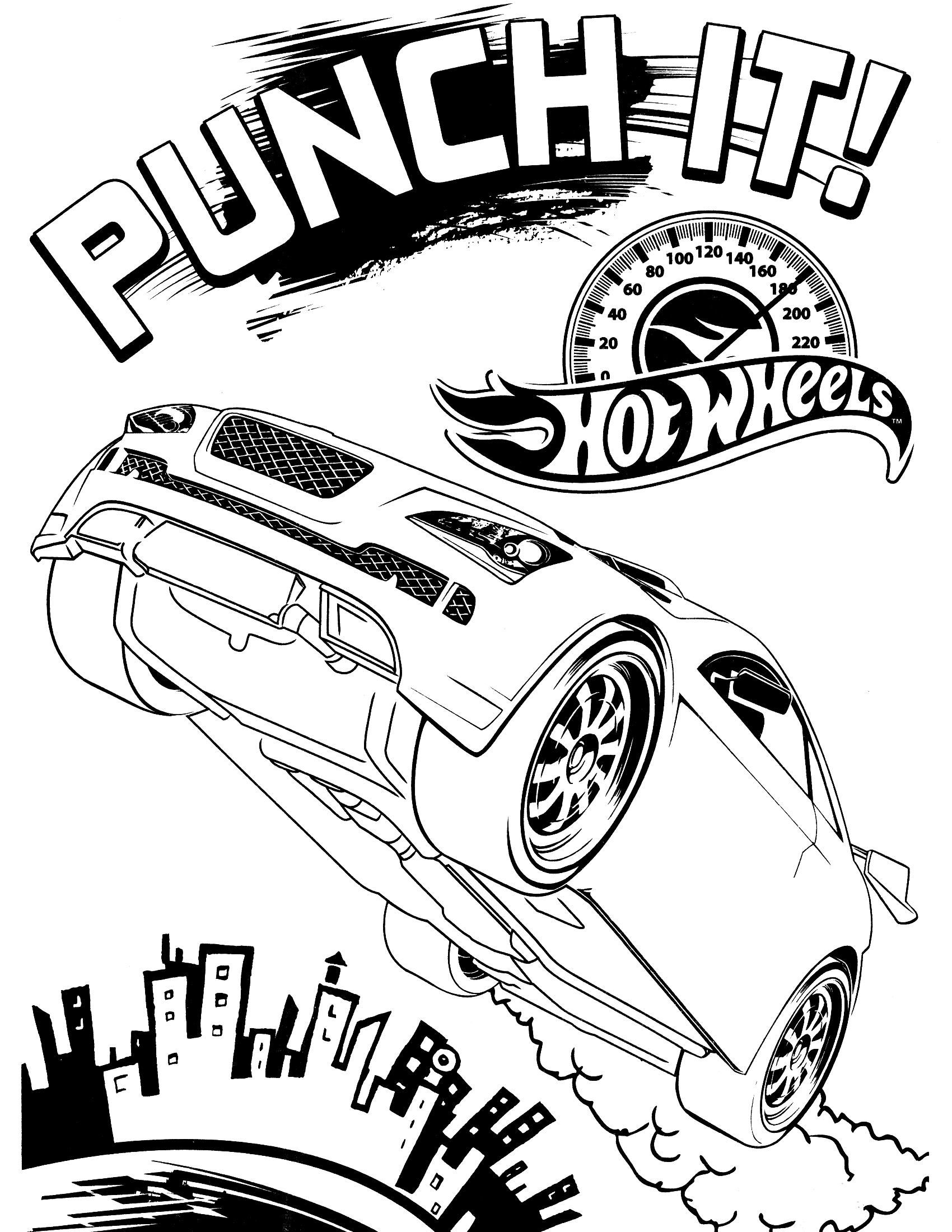 Coloring pages for hot wheels - Printable Hot Wheel Coloring Pages