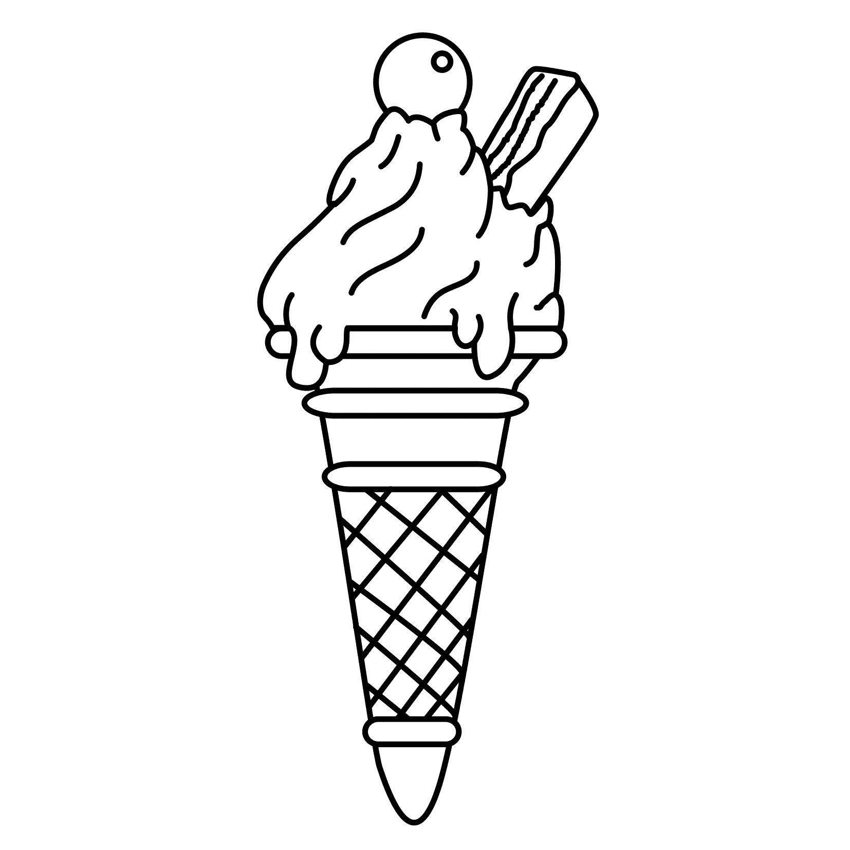 Free coloring pages ice cream sundae - Printable Ice Cream Coloring Pages