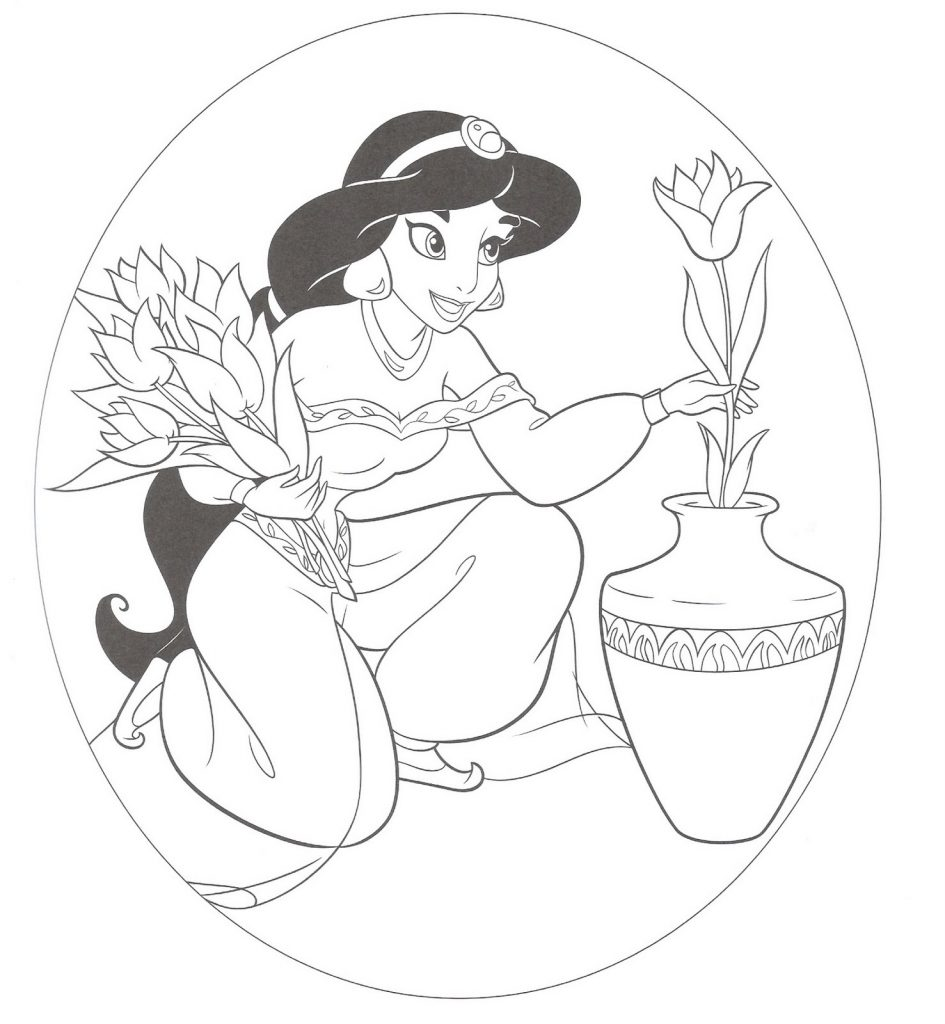 Colouring Pages Disney Jasmine : Free printable jasmine coloring pages for kids best