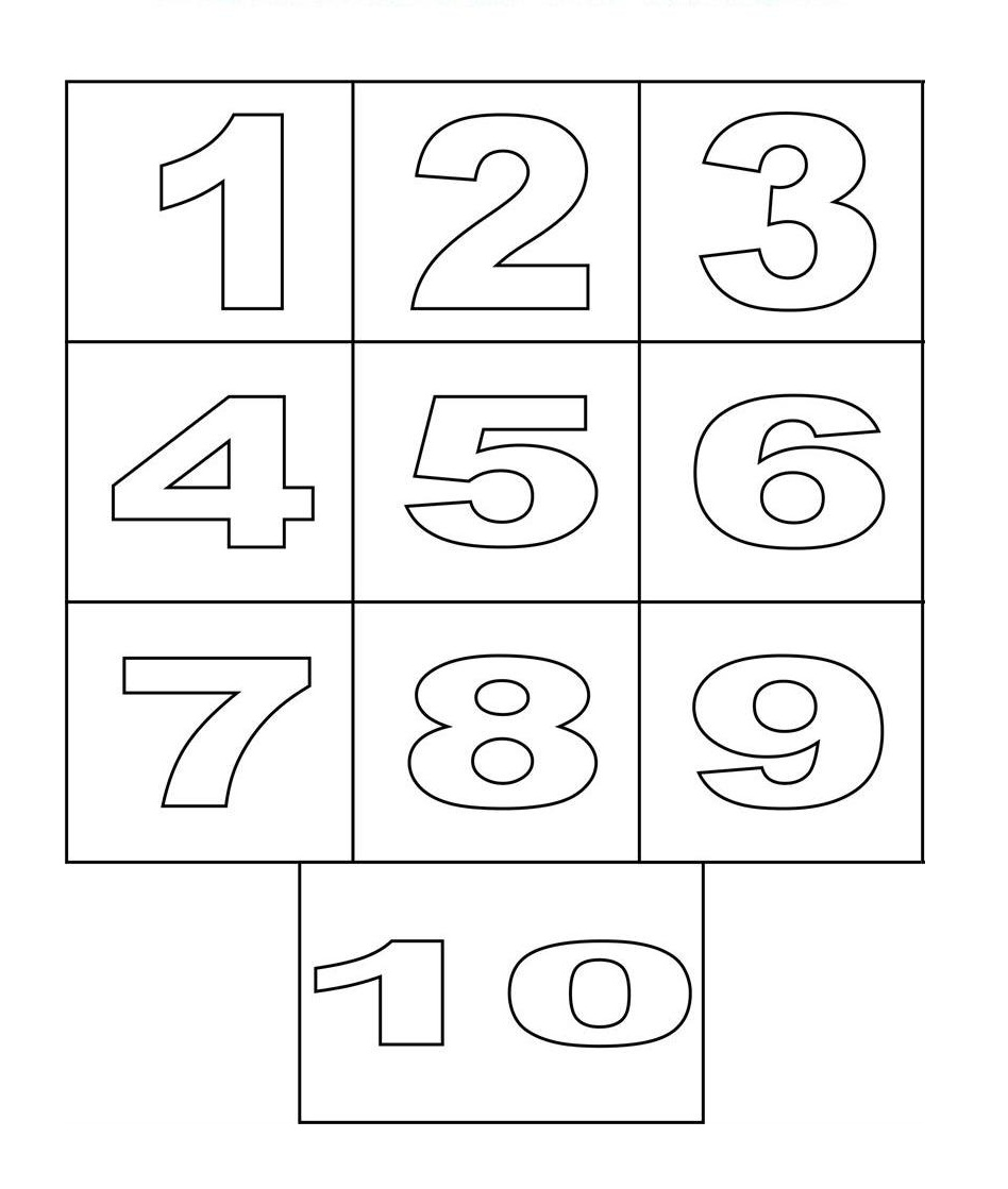 number coloring pages free printable - photo#1