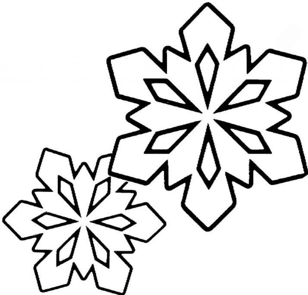 It is a picture of Fan Snow Flake Print Outs