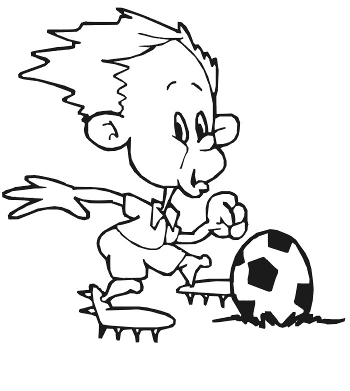 soccer and coloring pages - photo#24