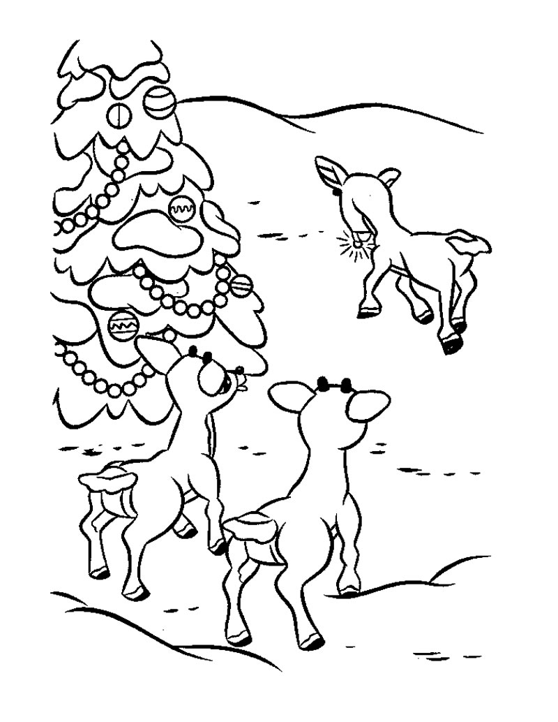 Free printable coloring pages reindeer - Rudolph Coloring Pages Printable