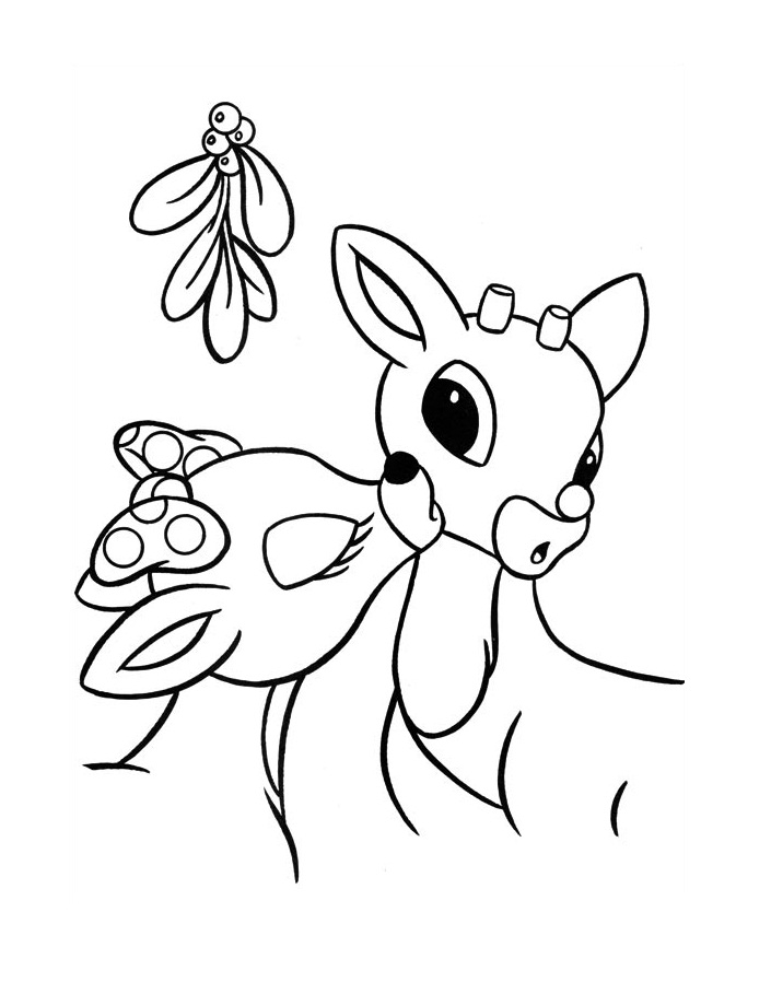 rudolph coloring pages images - photo#22