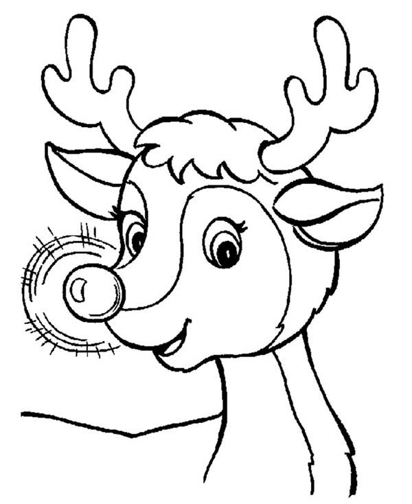 rudolph face coloring pages