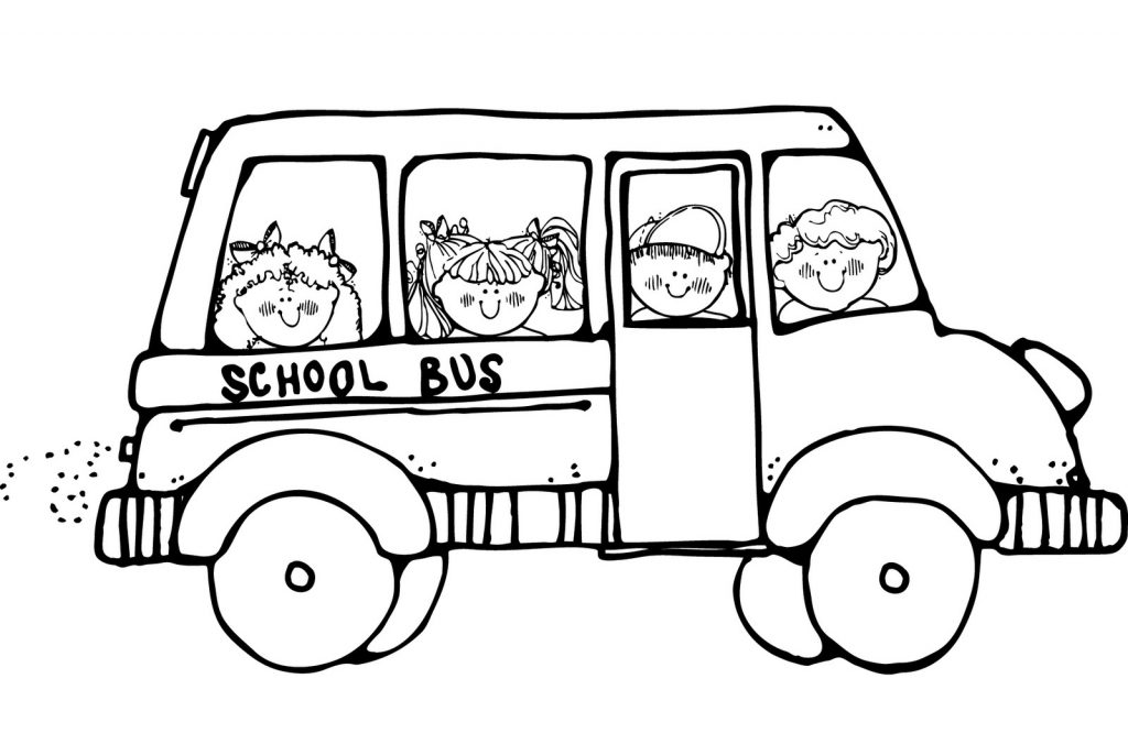 free printable school bus coloring pages for kids Cute Bus Clip Art Short Bus Clip Art