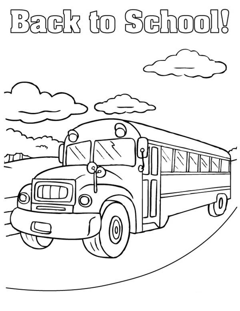 Free Printable School Bus Coloring Pages For Kids - school coloring pages kindergarten