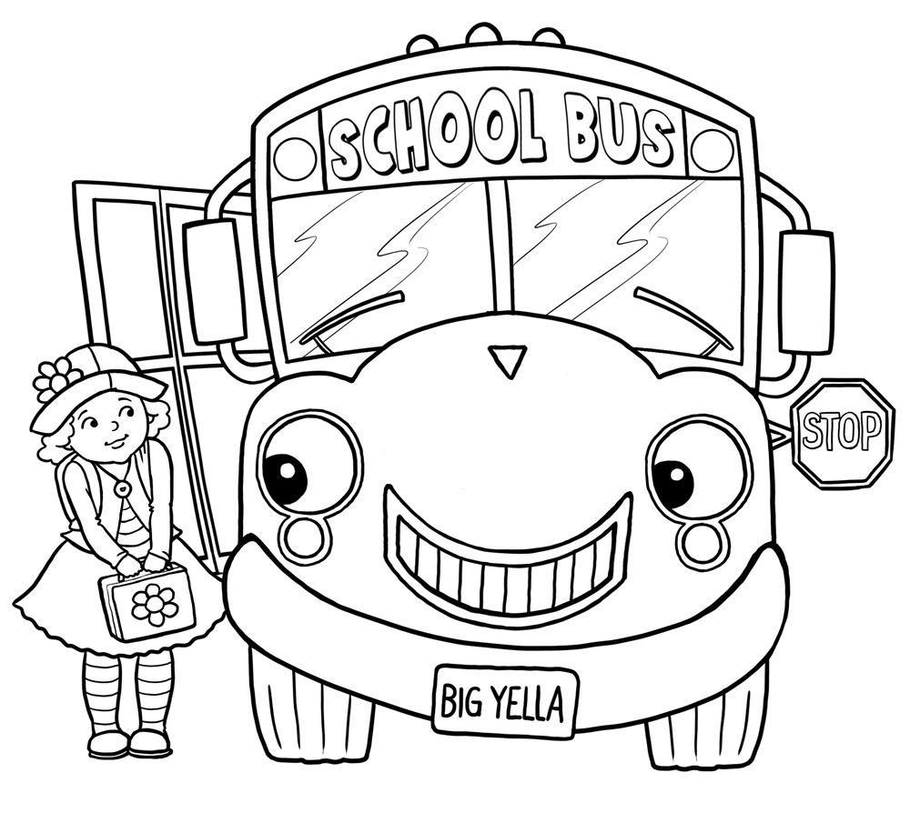 Free printable school bus coloring pages for kids for Coloring pages t