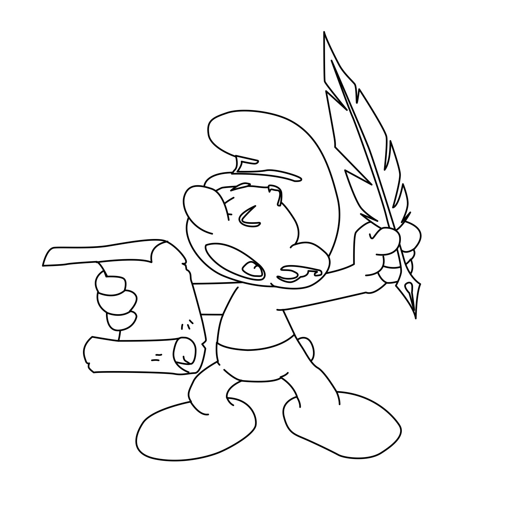 printable smurf coloring pages - photo#23
