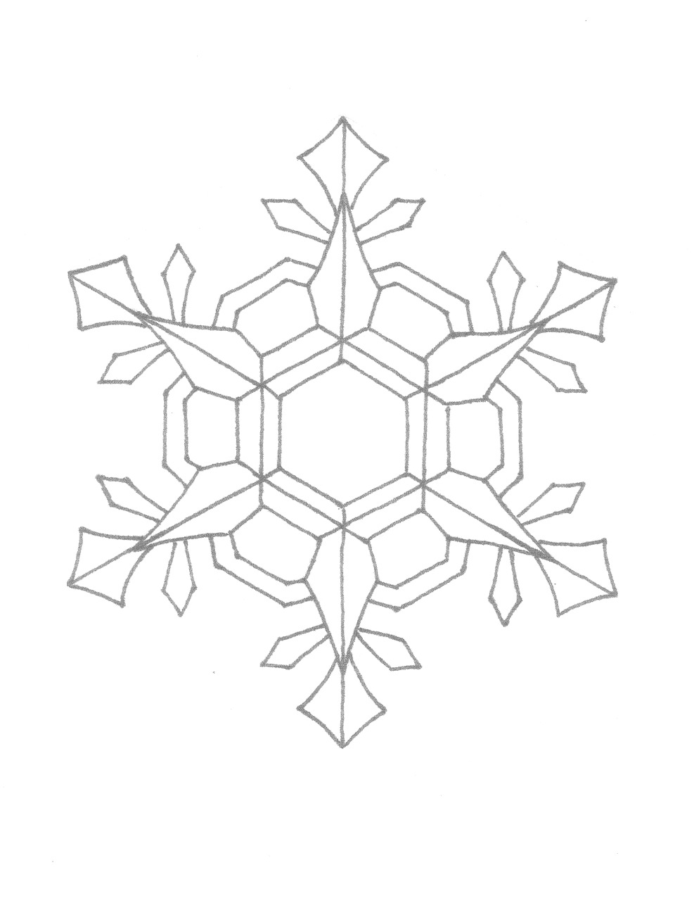 snowflake coloring pages for children - photo#11