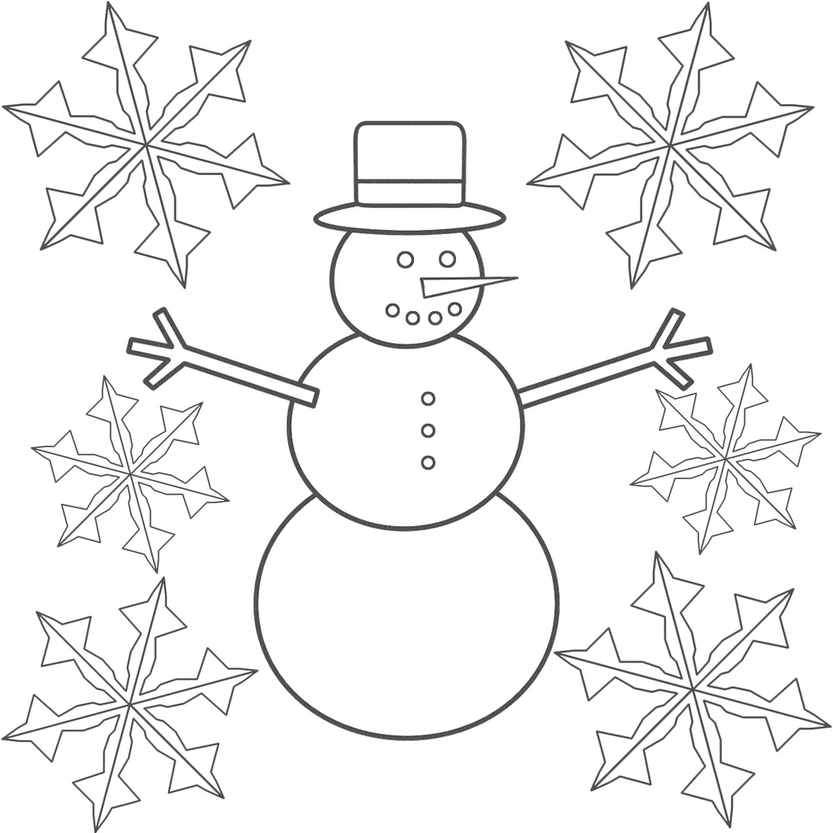 Simple Snowflake Coloring Pages Printable Coloring Coloring Pages