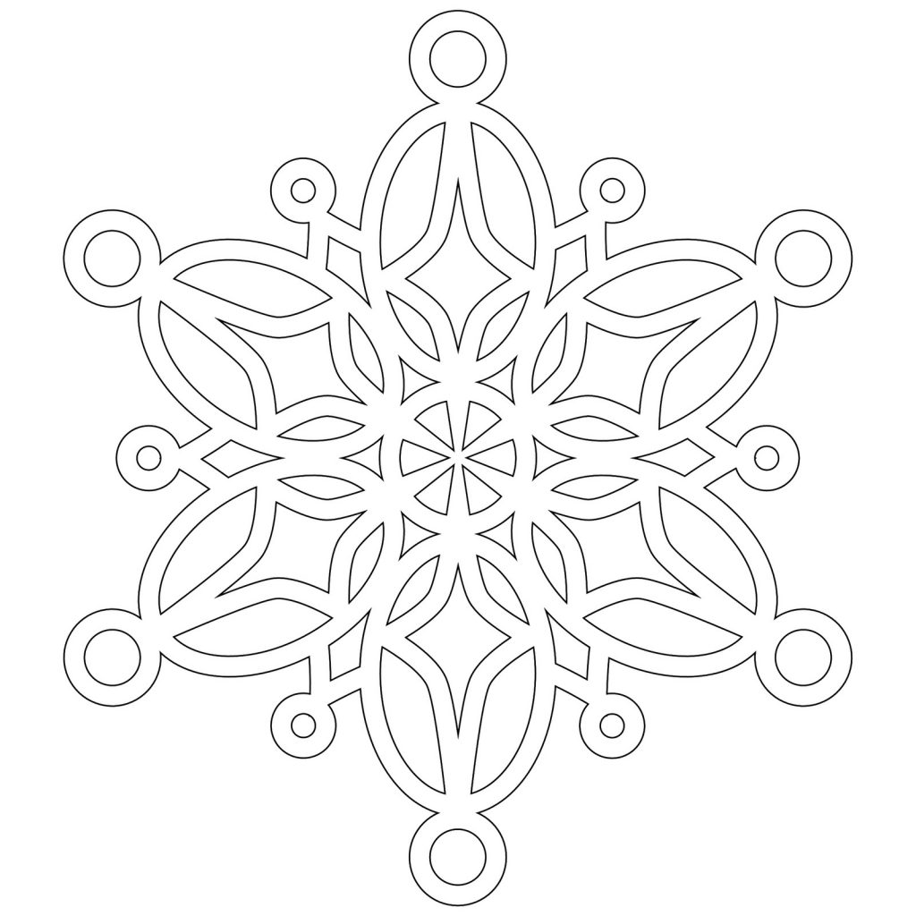 snowflake coloring pages for children - photo#24