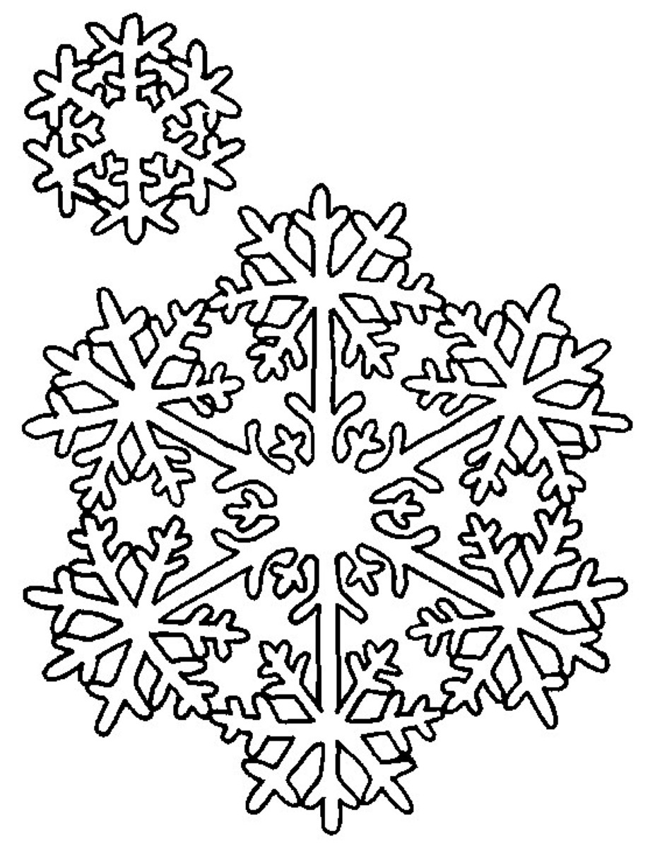 Snowflakes Coloring Pages Printable