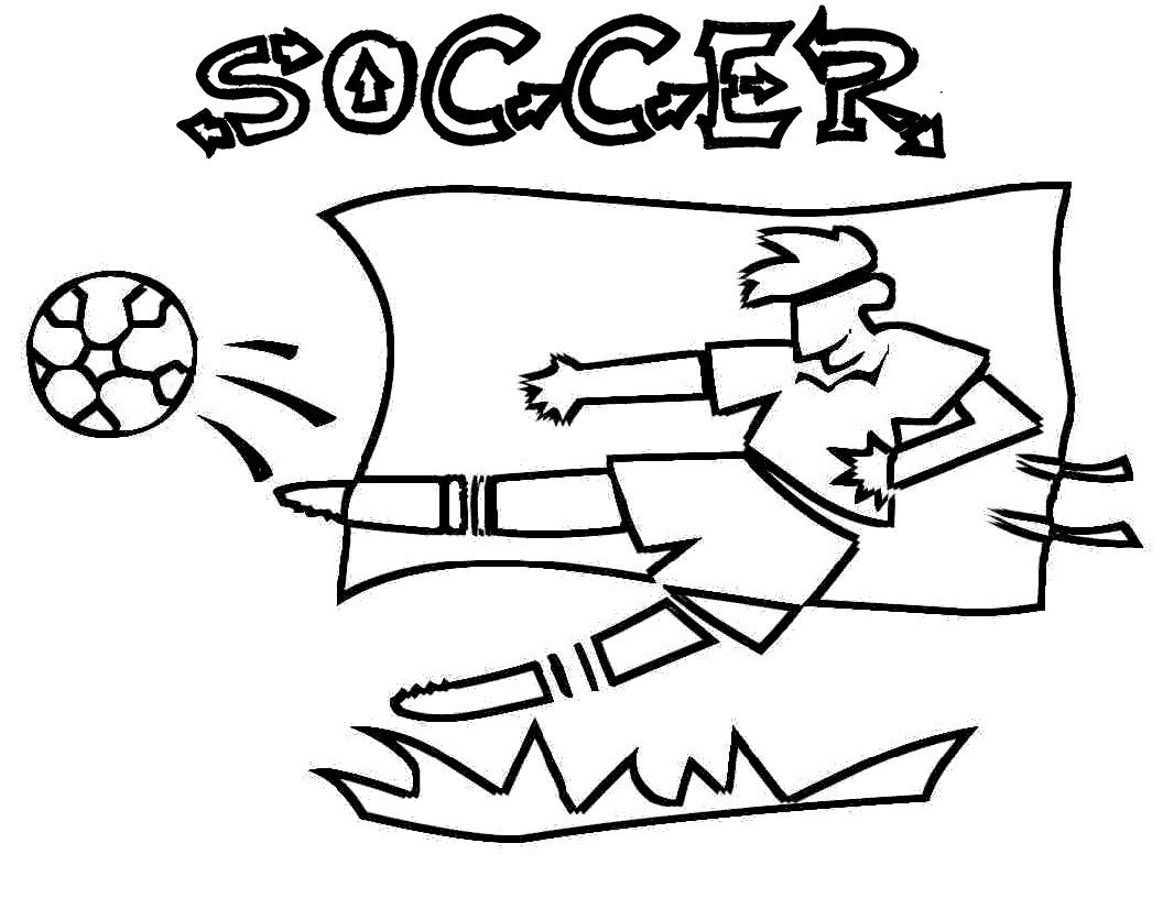 soccer and coloring pages - photo#27