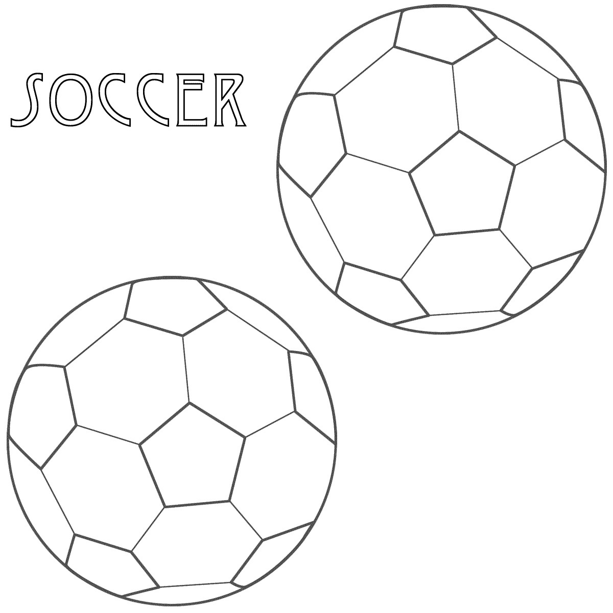 Free printable coloring pages soccer - Soccer Coloring Page