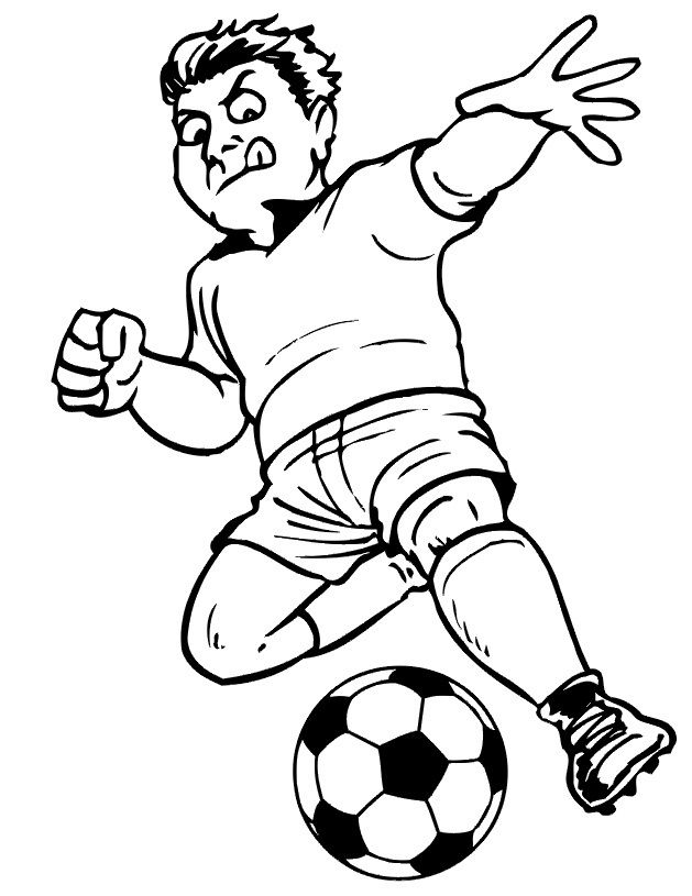 soccer and coloring pages - photo#16