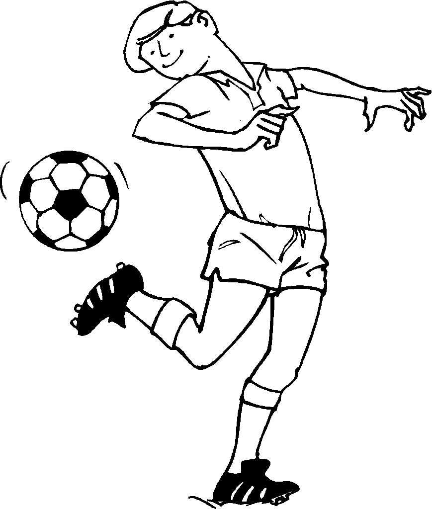 Free printable coloring pages soccer - Soccer Coloring Pages To Print