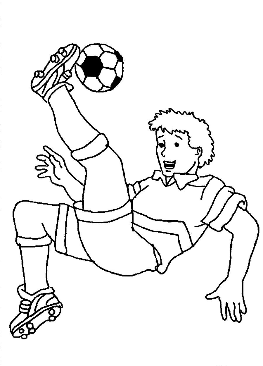 Free printable coloring pages soccer - Soccer Player Coloring Pages