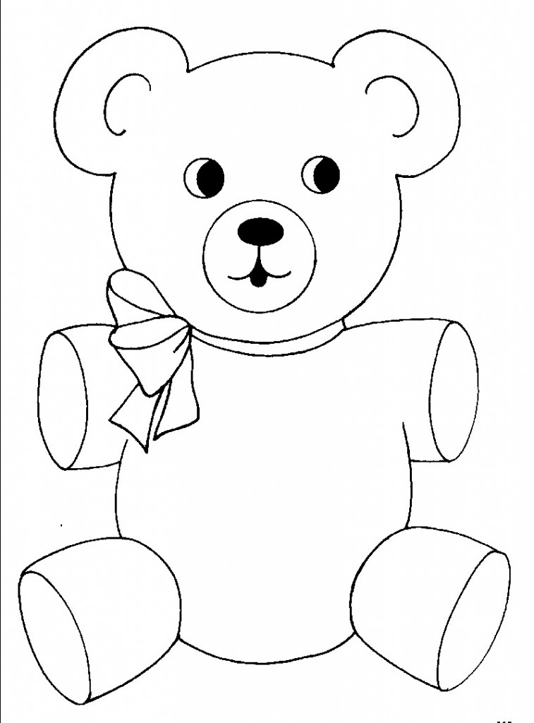teddy bear coloring page - Teddy Bear Coloring Pages Free