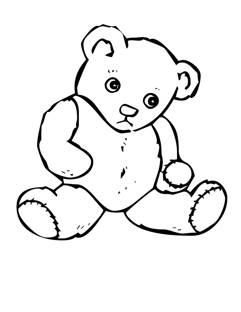 Free printable teddy bear coloring pages for kids for Coloring pages toddler