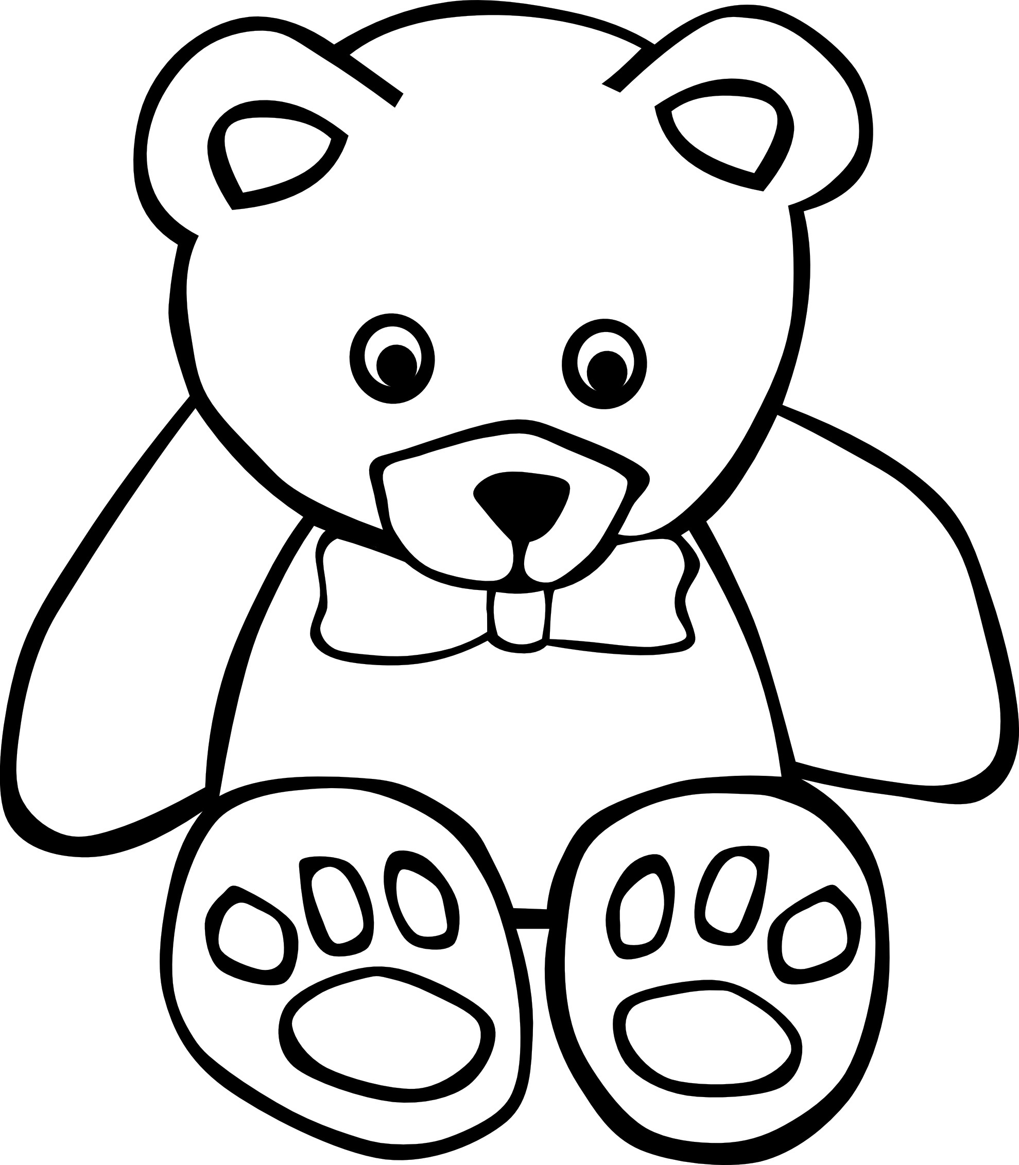 printable coloring pages of teddy bears | Free Printable Teddy Bear Coloring Pages For Kids