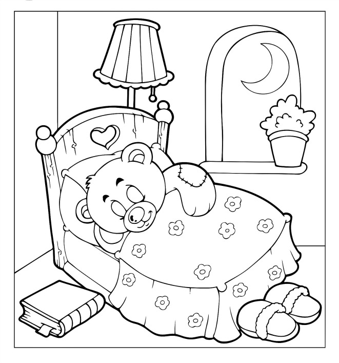 bed time coloring pages - photo #28