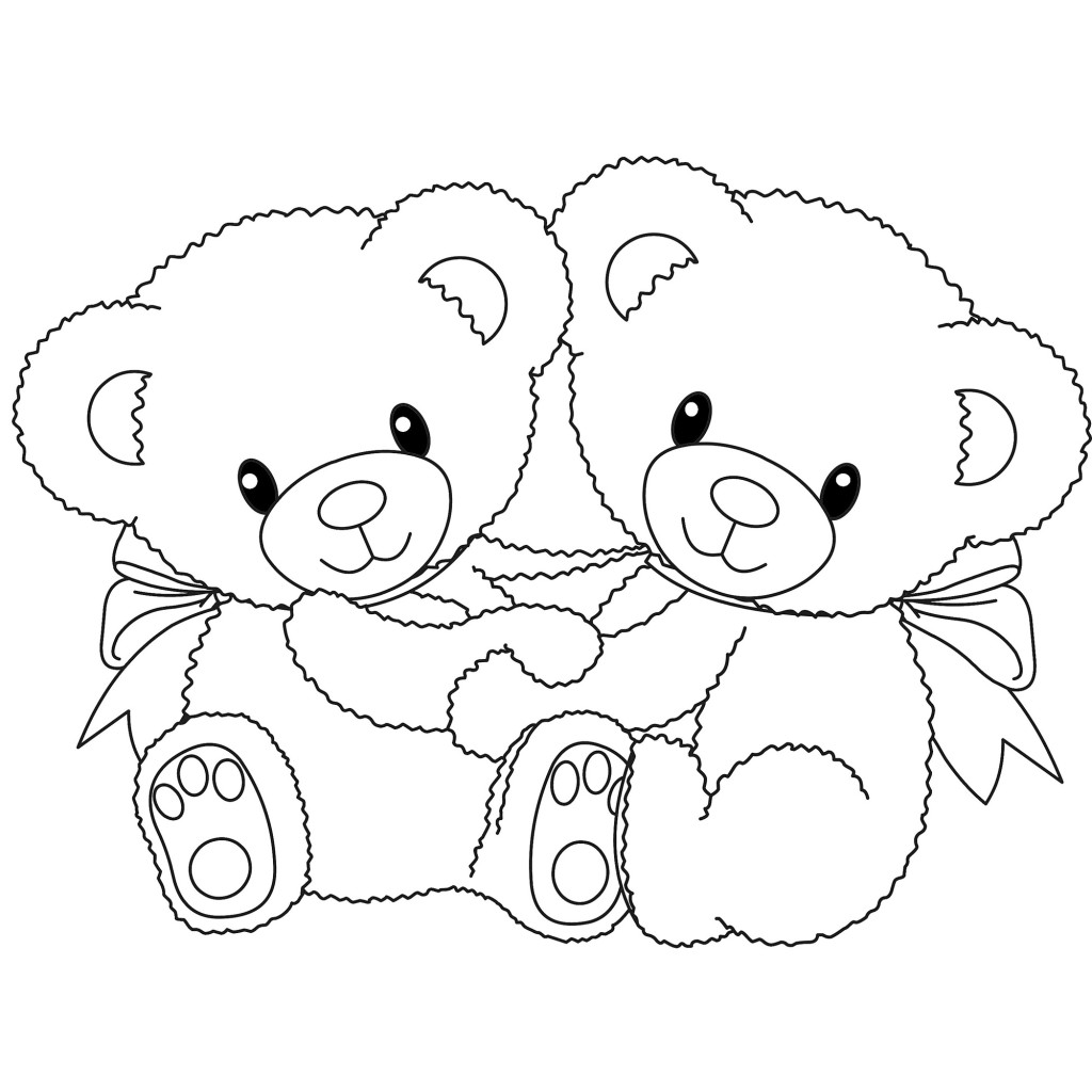 Coloring pages of bear