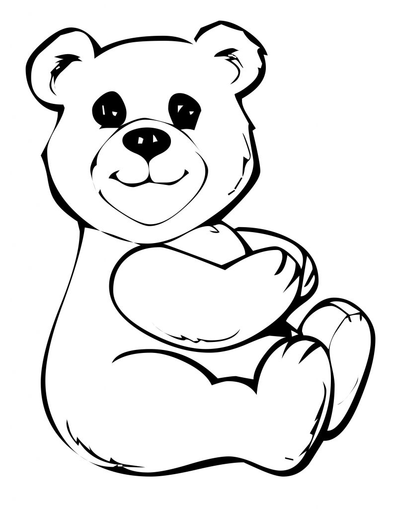 Coloring Pages For Youth : Free printable teddy bear coloring pages for kids