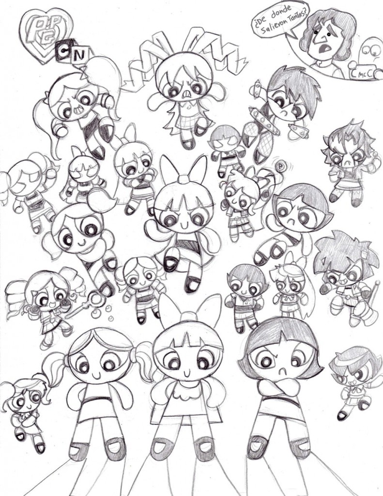 powderpuff boys coloring pages - photo #42