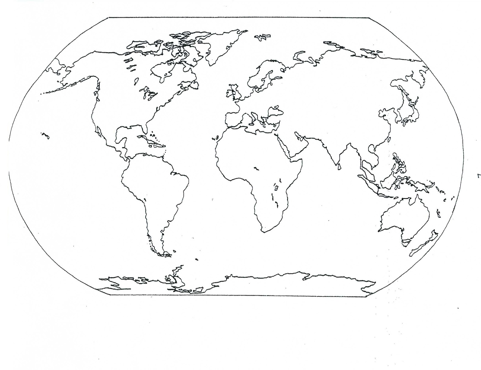 World Map Coloring Pages on Teaching Clip Art Free Amp Page 4