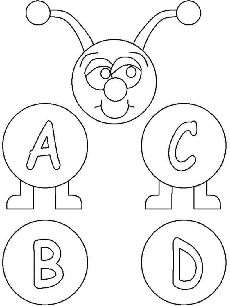 alphabet coloring pages letter a free printable farm alphabet ...