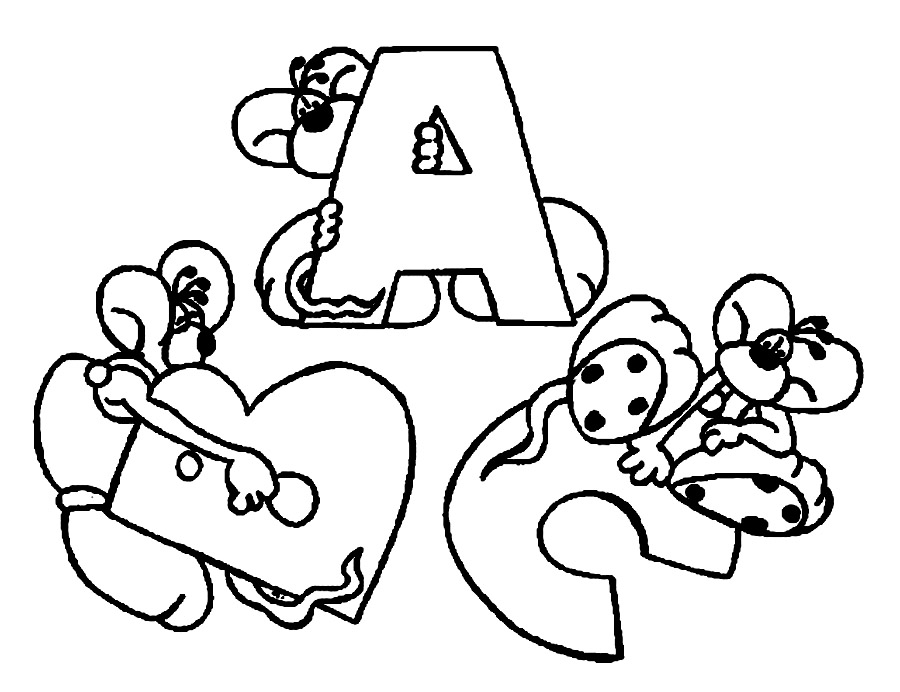 Printable Abc Coloring Sheets : Free printable abc coloring pages for kids